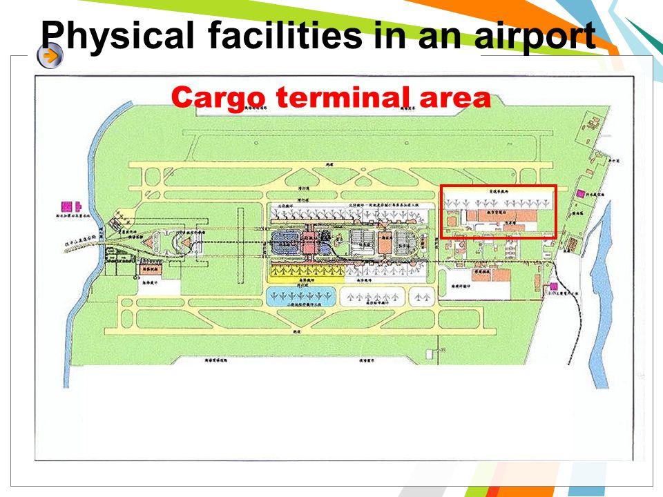 Physical facilities in an airport Cargo terminal area