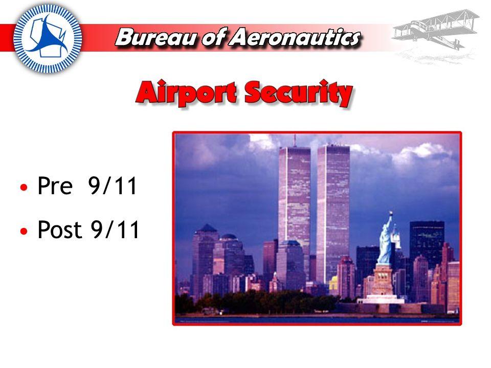 Pre 9/11 Minimal passenger screening Minimal cargo screening Minimal attention to GA airports Terrorism happened outside the United States