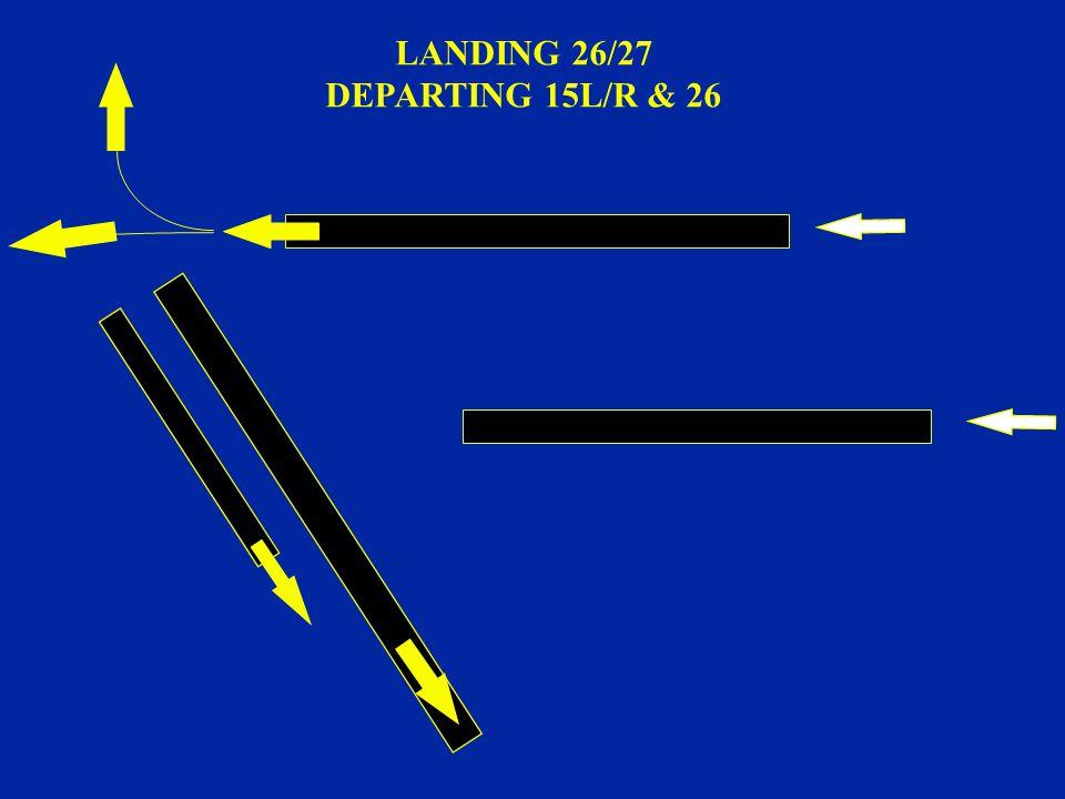 LANDING 26/27 DEPARTING 15L/R & 26