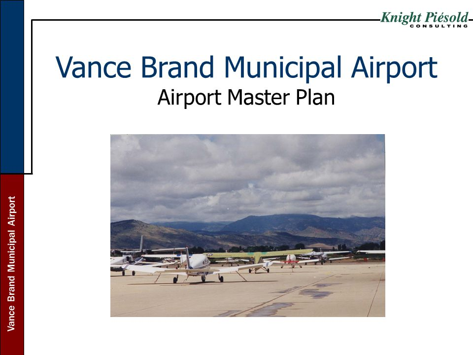 Vance Brand Municipal Airport Airport Master Plan