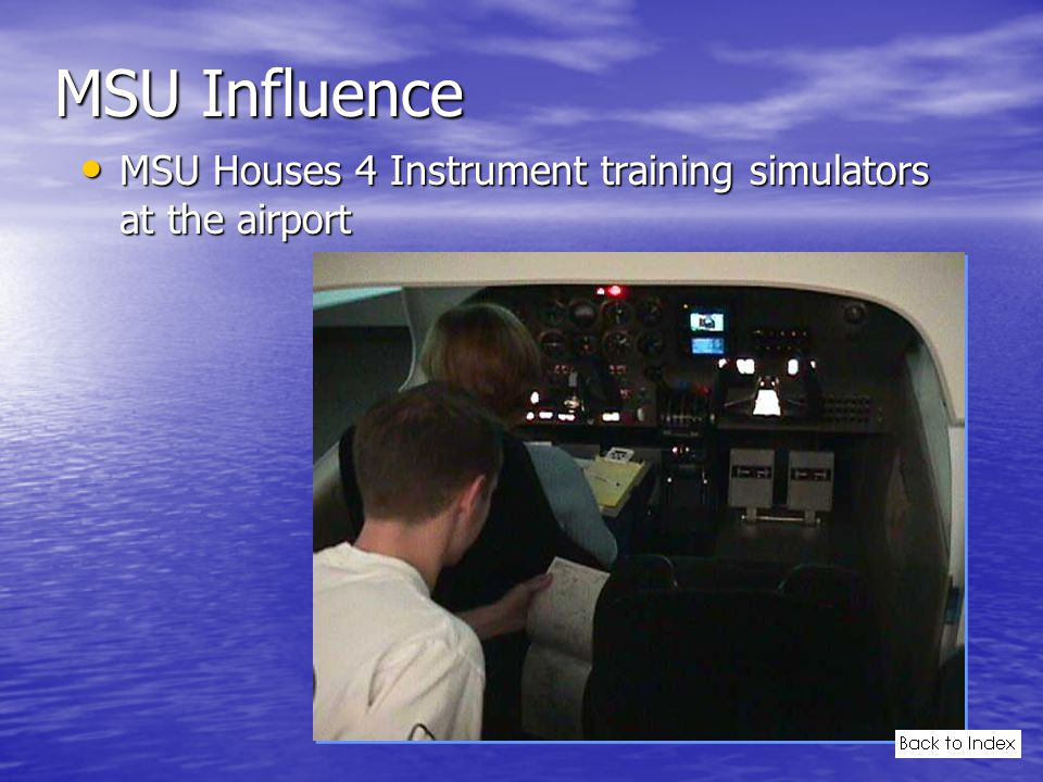 MSU Influence MSU Houses 4 Instrument training simulators at the airport MSU Houses 4 Instrument training simulators at the airport