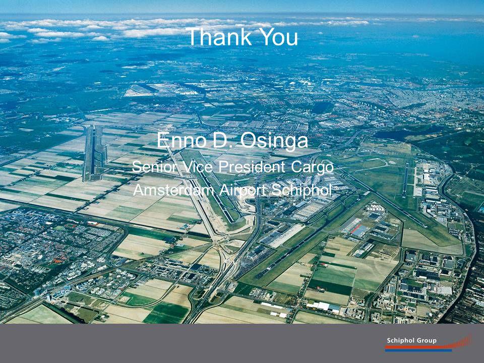 17 Thank You Enno D. Osinga Senior Vice President Cargo Amsterdam Airport Schiphol