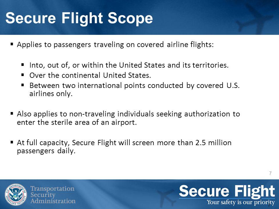 Secure Flight Process Flow 8