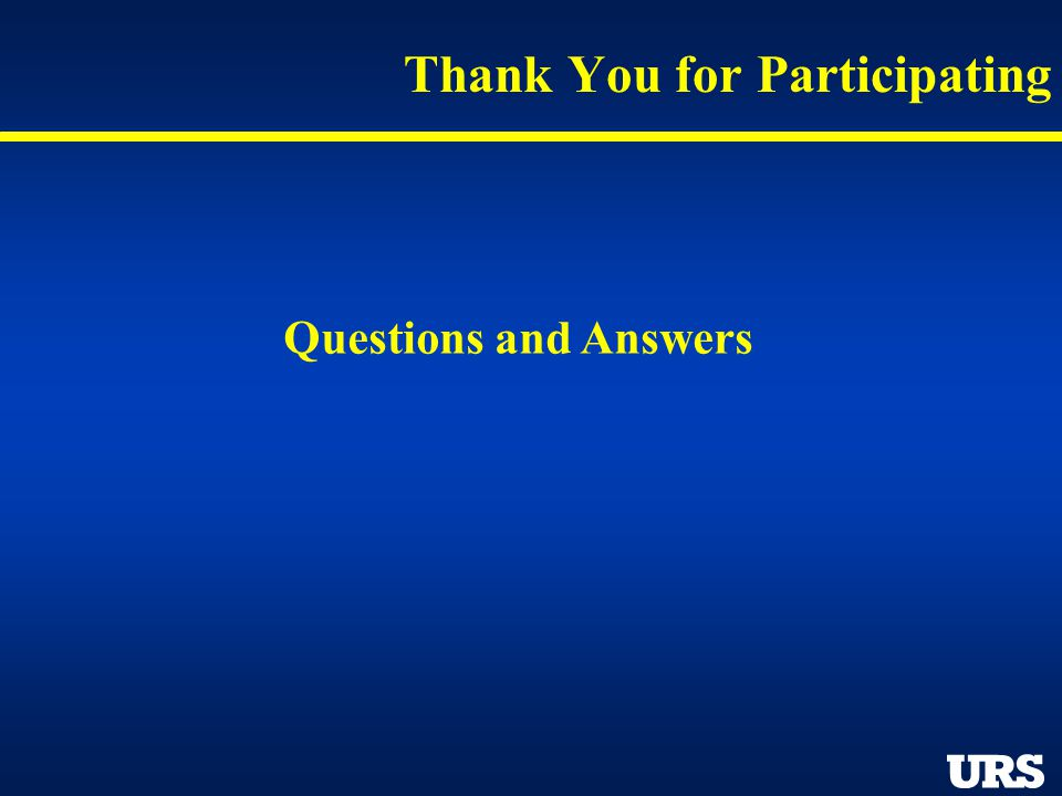 Thank You for Participating Questions and Answers