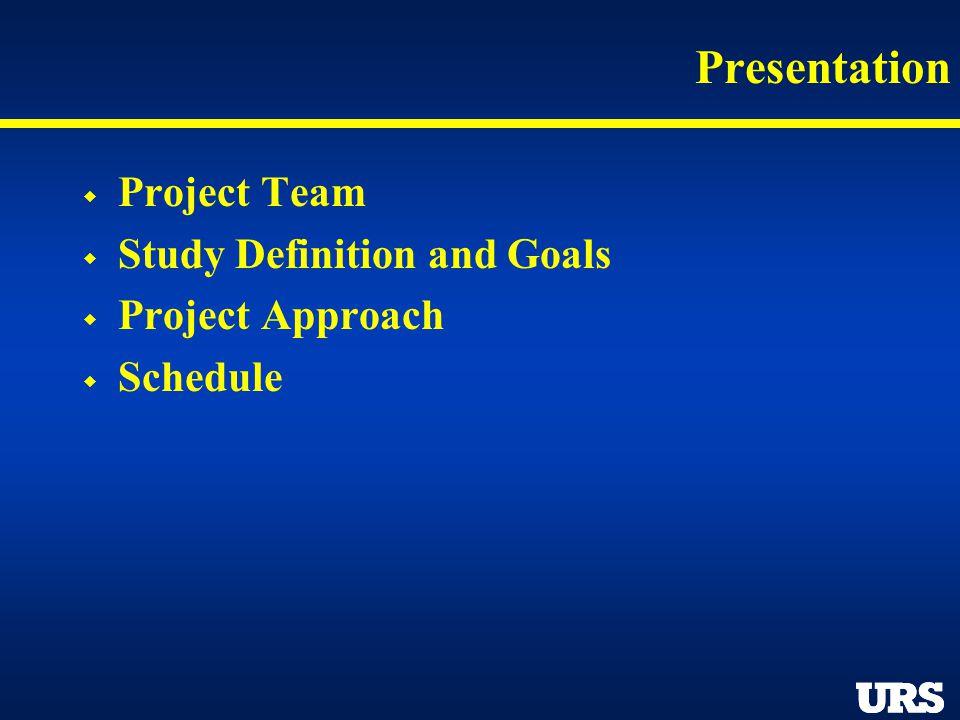 Project Team URS Corporation Deborah Murphy – Project Director Jeff Fuller – Project Manager Joe Czech – Project Engineer Katz & Associates Patricia Tennyson Kristina Alexanders
