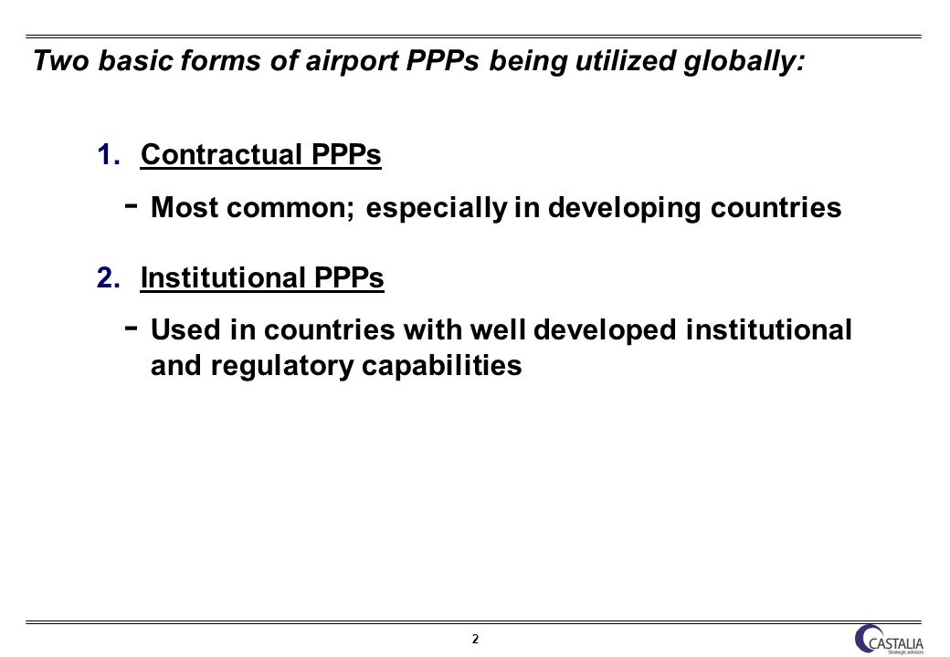 3 Why are airport PPPs being used.