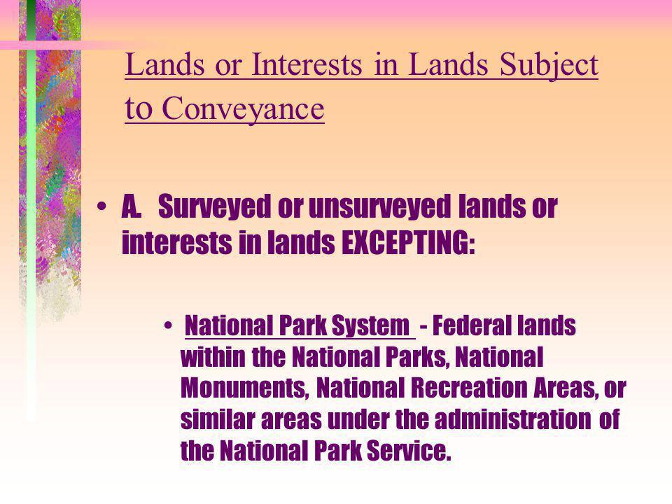 National Wildlife Refuge System - Federal lands within any unit of the National Wildlife Refuge System or similar area under the jurisdiction of the U.S.