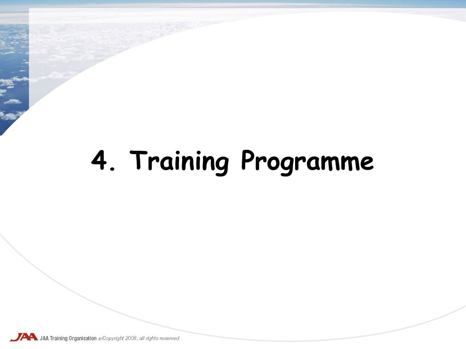 4. Training Programme