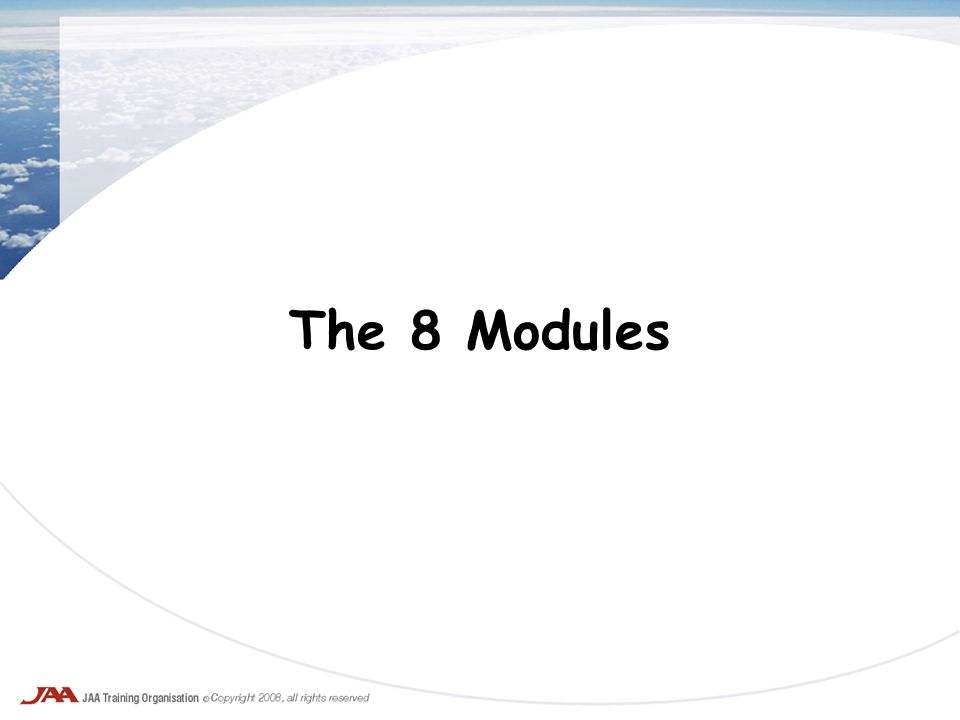 The 8 Modules