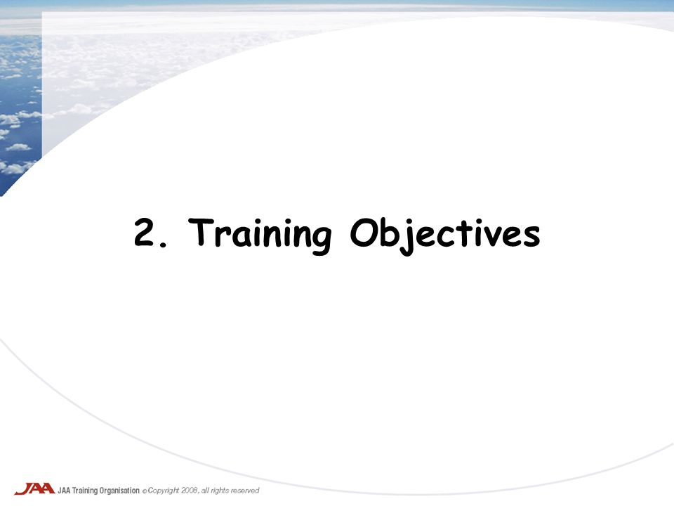 2. Training Objectives