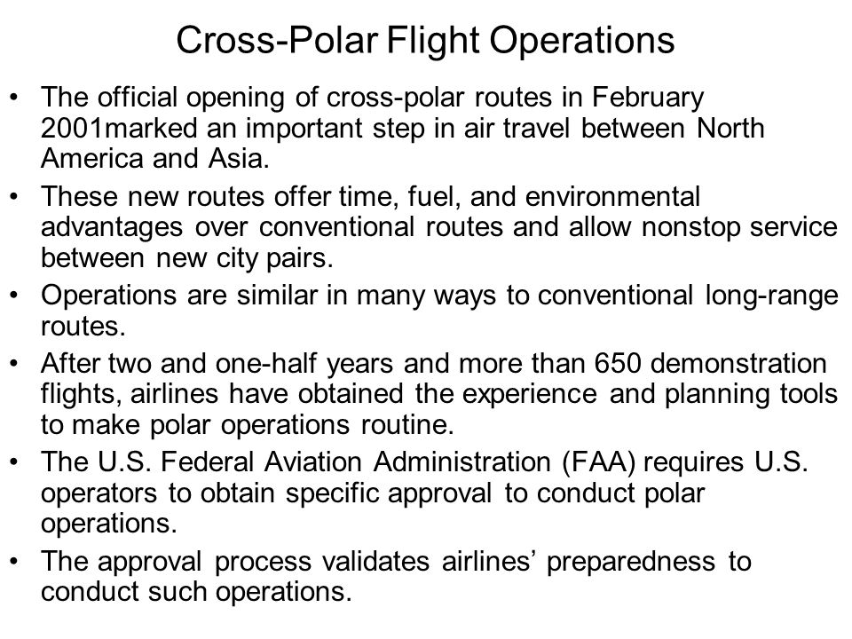 Great Circle Routes in the North Pole Area