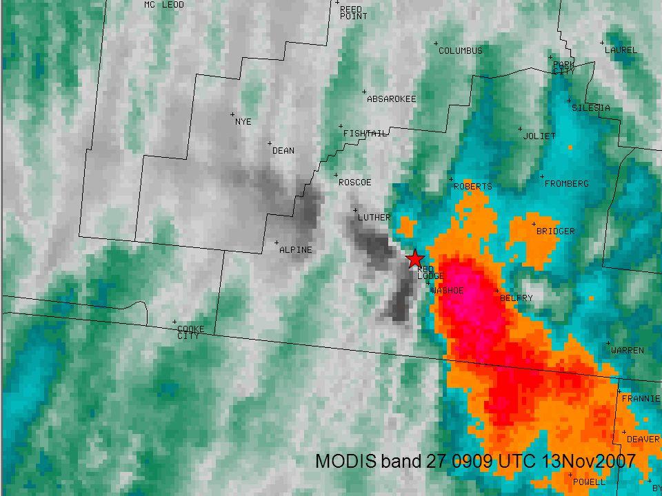MODIS band 27 0909 UTC 13Nov2007