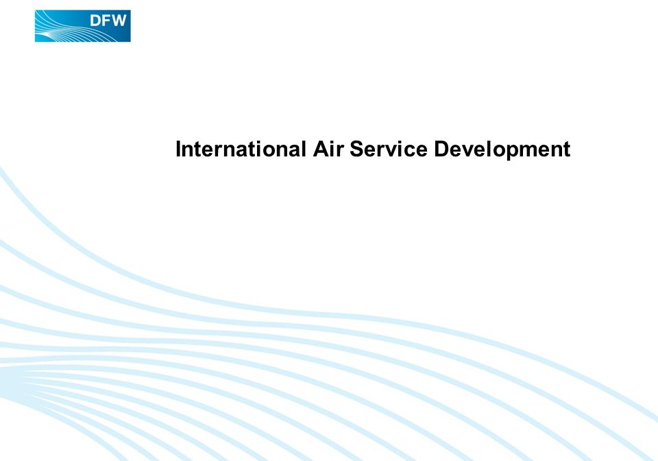 International Air Service Development