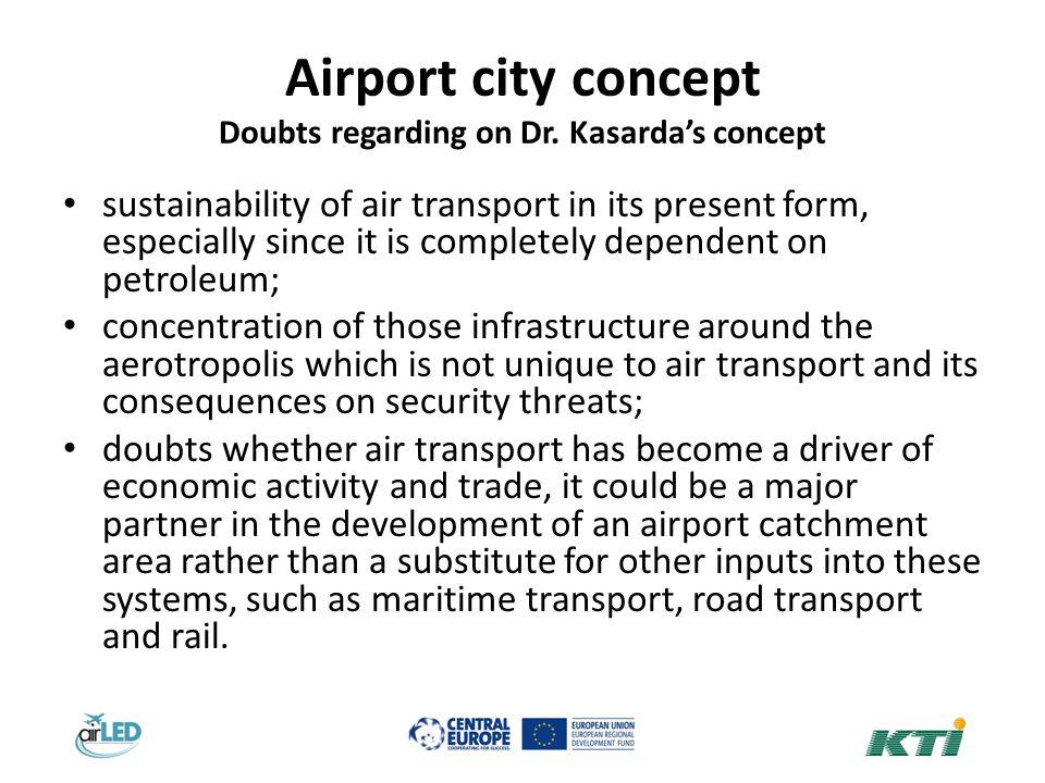 Airport city concept Doubts regarding on Dr.