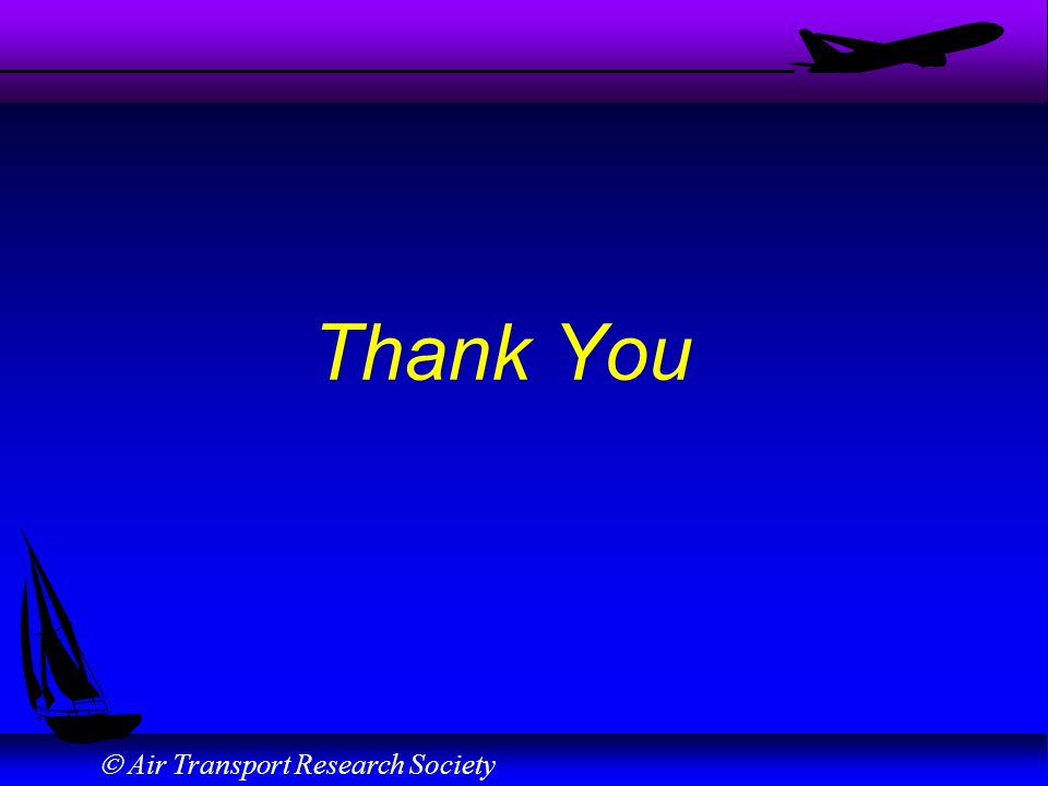 Air Transport Research Society Thank You