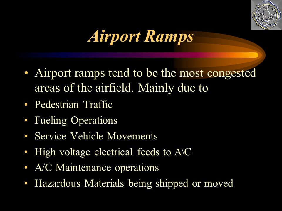Roads and Bridges ARFF personnel need to know the roads and other access features of the airport What are their limitations What are the capabilities