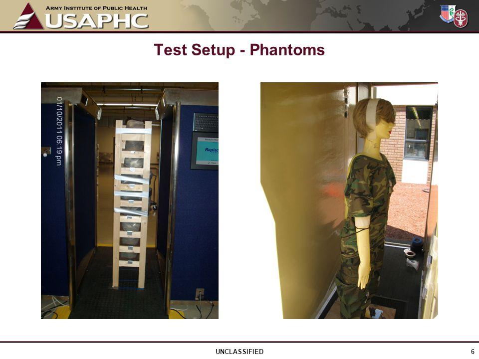 Test Setup - Phantoms 6 UNCLASSIFIED