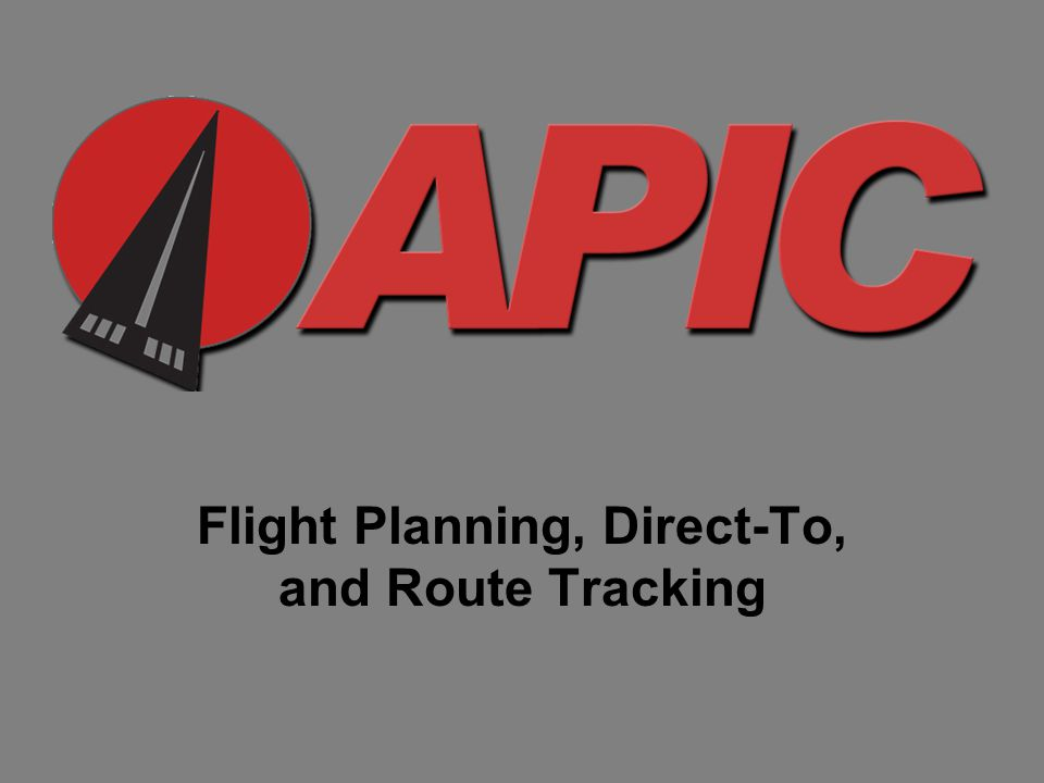 Flight Planning, Direct-To, and Route Tracking