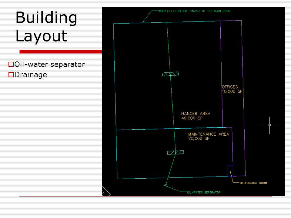 Building Layout Oil-water separator Drainage