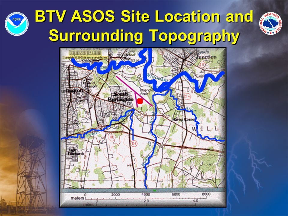 BTV ASOS Site Location and Surrounding Topography