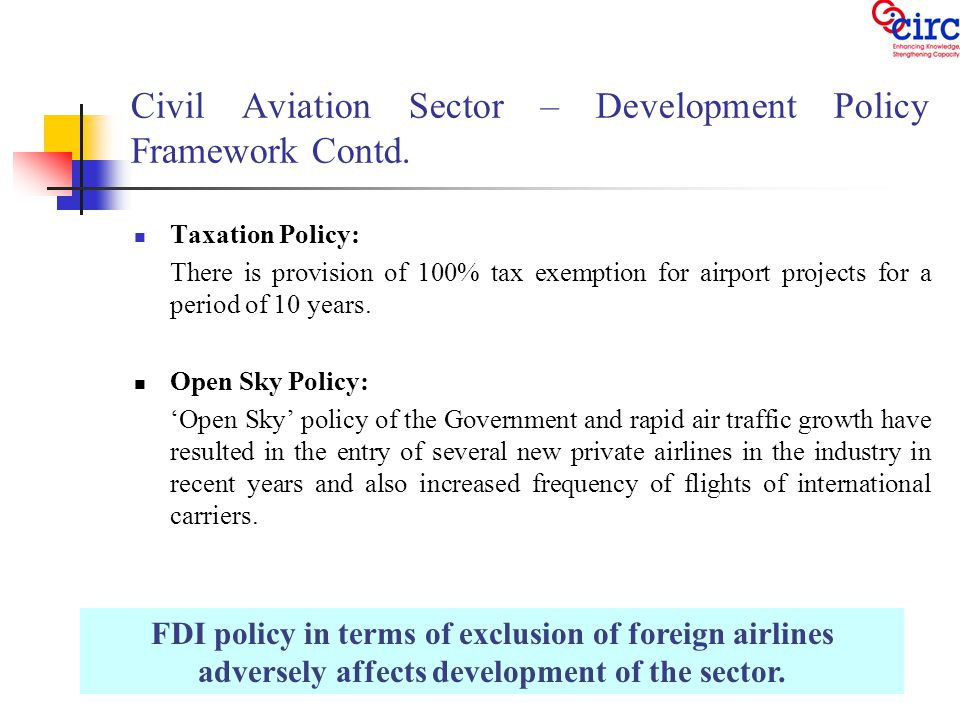 Competition and Regulatory Issues in Civil Aviation Sector – Interface between Airports and Airlines - 1.