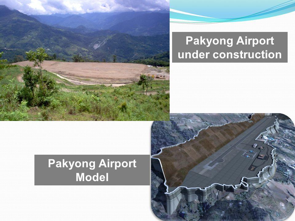 Pakyong Airport under construction Pakyong Airport Model 35