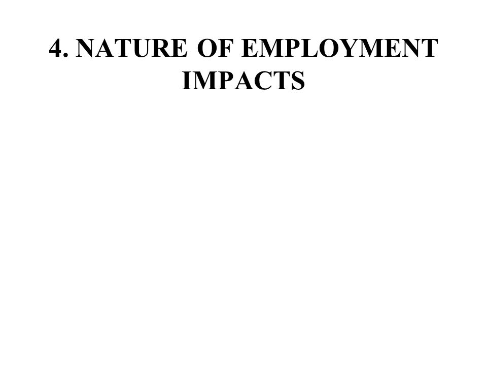 4. NATURE OF EMPLOYMENT IMPACTS