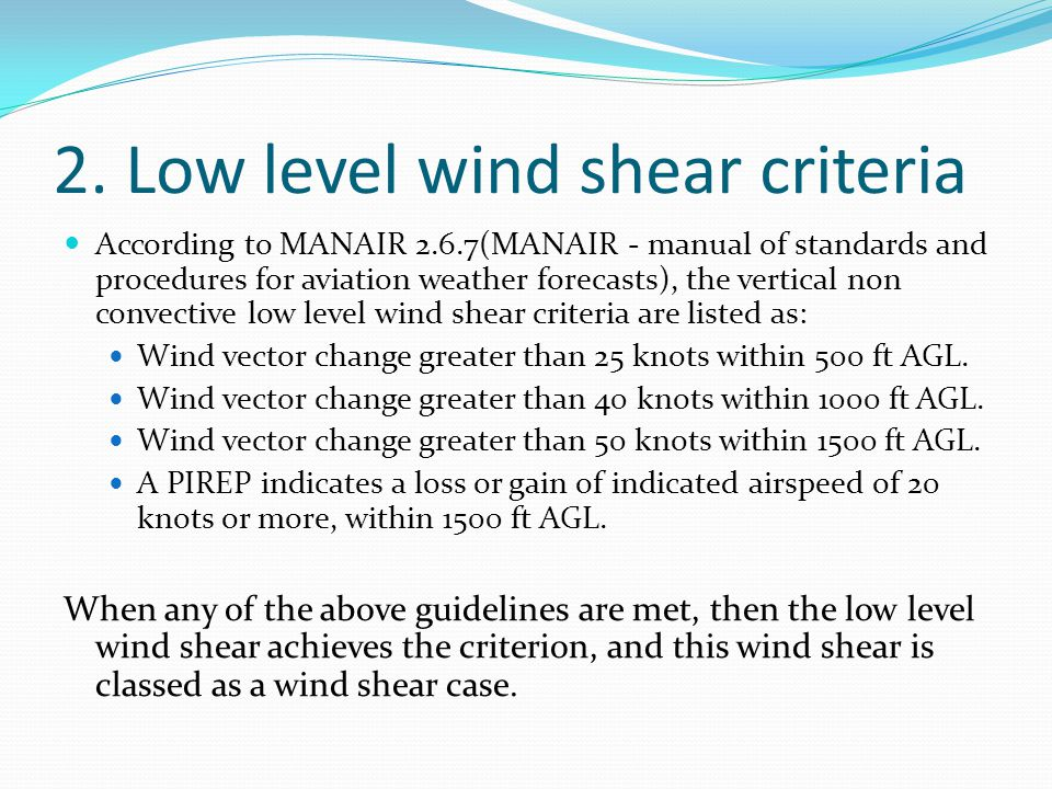 5. Frequency of low level wind shear Within 1500ft above ground level Wind Shear Criterion: 25.7m/s