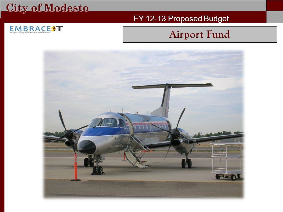 City of Modesto FY 12-13 Proposed Budget Airport Fund