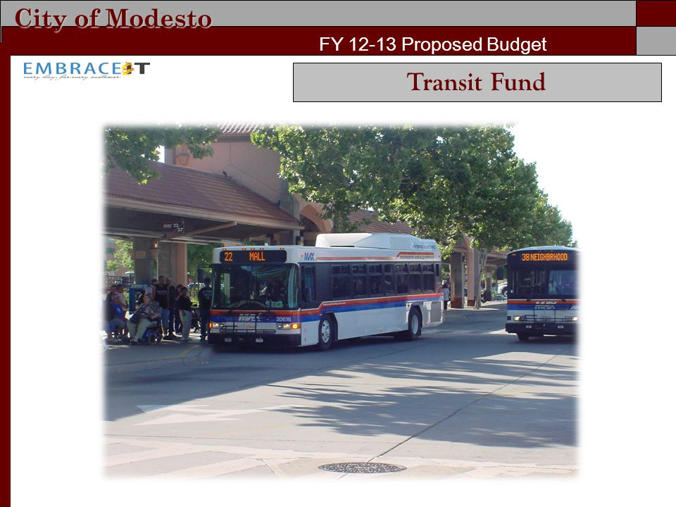 City of Modesto FY 12-13 Proposed Budget Transit Fund