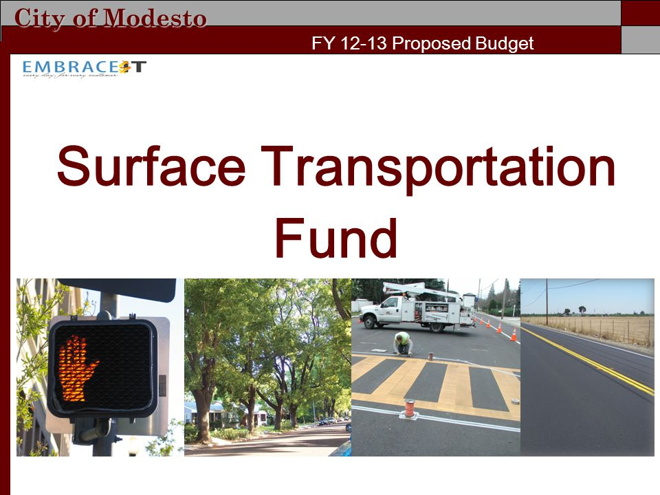 City of Modesto FY 12-13 Proposed Budget Surface Transportation Fund