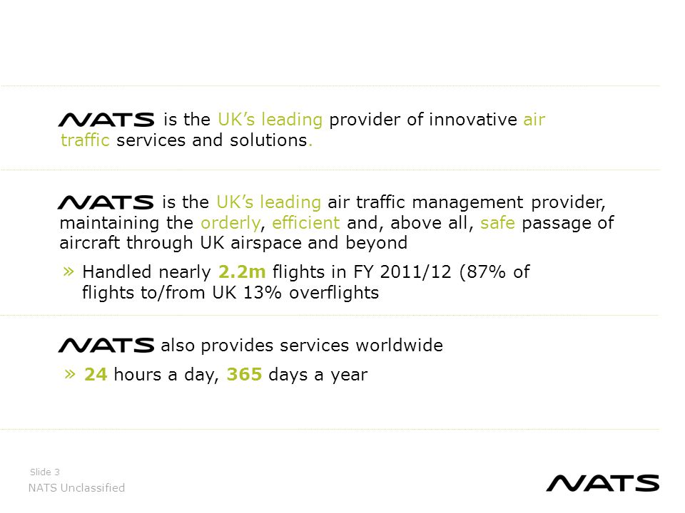 NATS Unclassified Slide 4 Our service lines