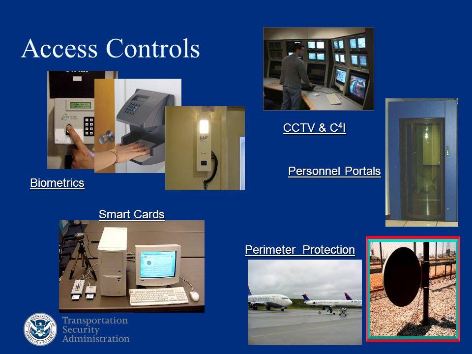 22 Access Controls Smart Cards Biometrics Perimeter Protection Personnel Portals CCTV & C 4 I