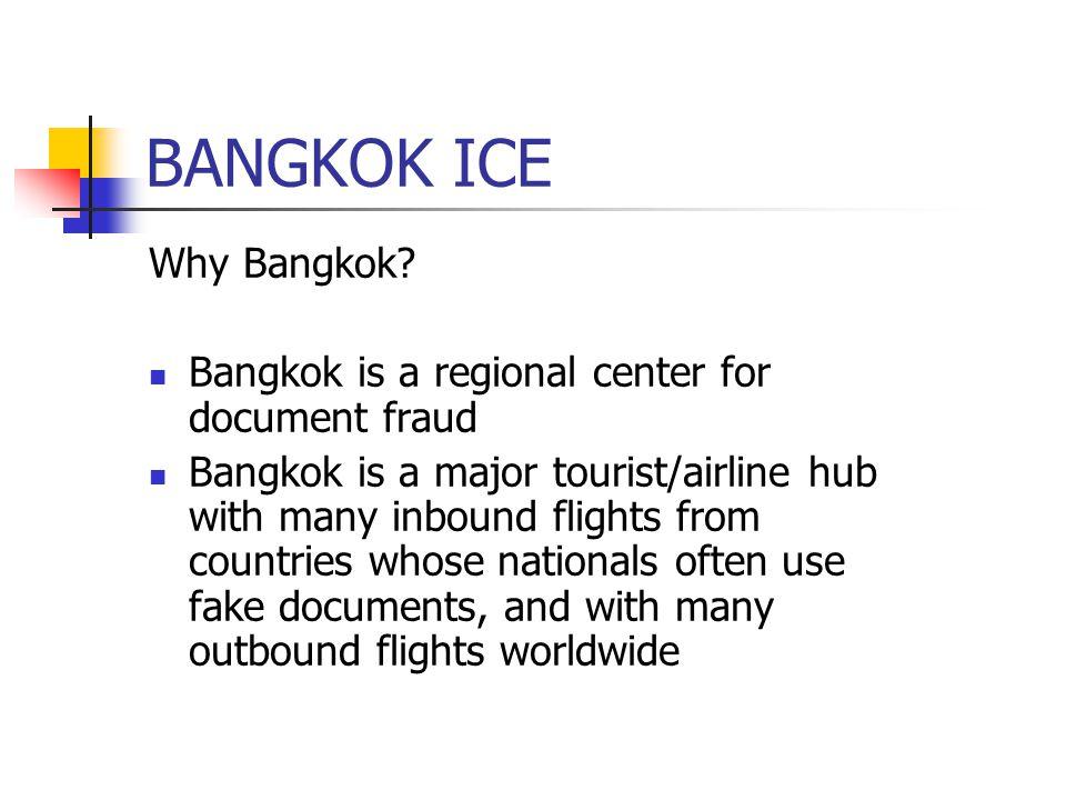 BANGKOK ICE Why Bangkok.