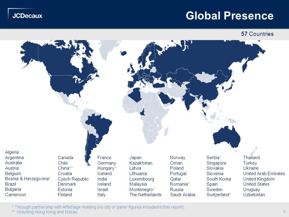 Global Presence Algeria Argentina Australia Austria Belgium Bosnia & Herzegovina* Brazil Bulgaria Cameroon Serbia* Singapore Slovakia Slovenia South K