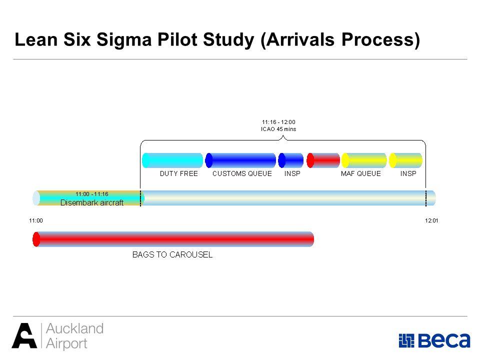 Lean Six Sigma Pilot Study (Arrivals Process)