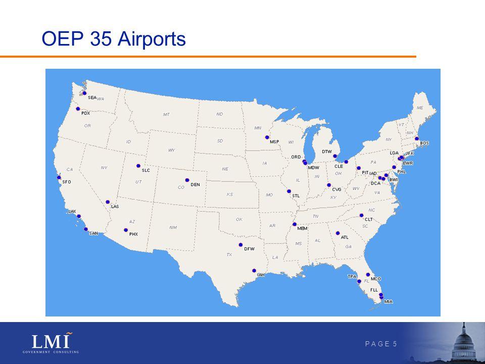 P A G E 5 OEP 35 Airports