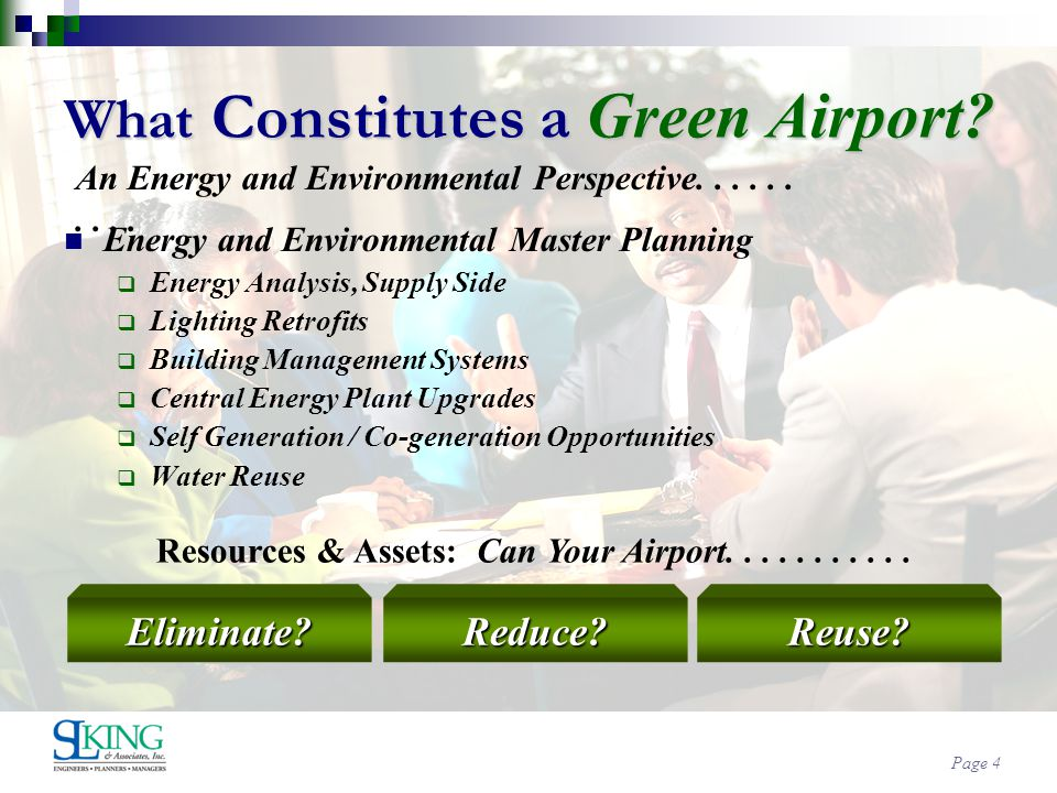 Page 4 What Constitutes a Green Airport.