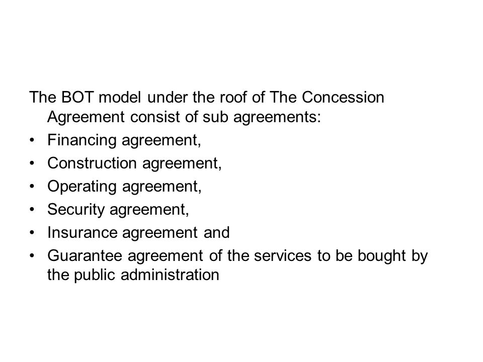 Supervising in the Model of BOT: Public administration is responsible for auditing frame of public service principles such as –price, –Quality, –Continuity, –Regularity, –Equality, –Objectivity and –General benefits