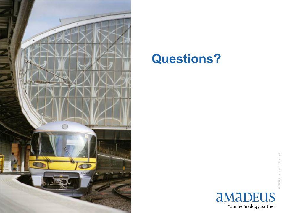 © 2008 Amadeus IT Group SA 18 Questions
