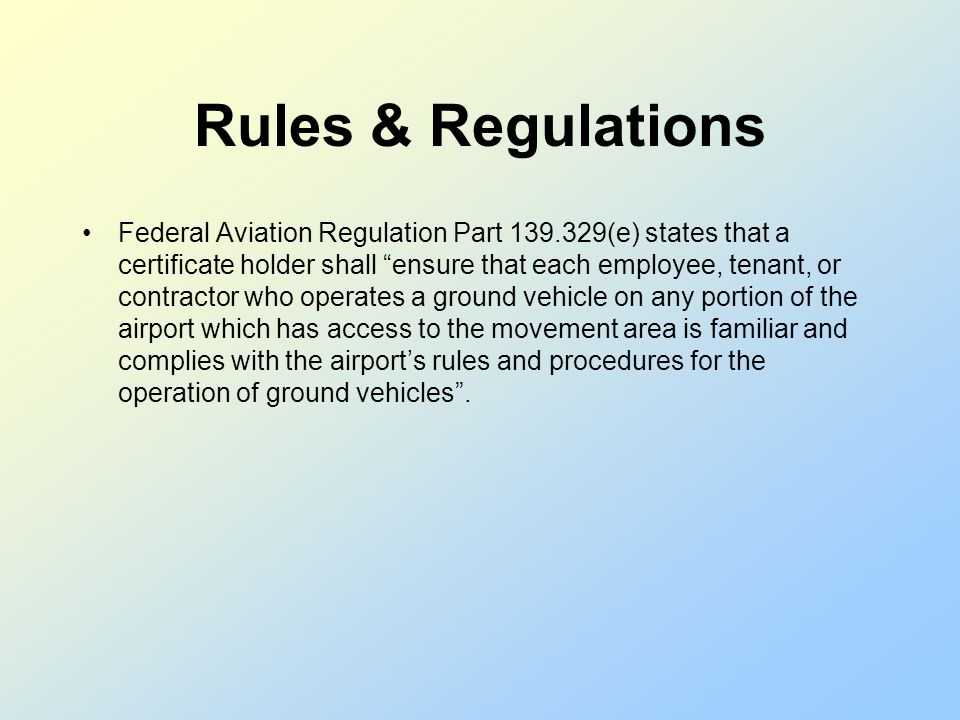 Definitions Runway Incursion – Any occurrence at an airport involving an: aircraft vehicle person or object on the ground that creates a collision haz