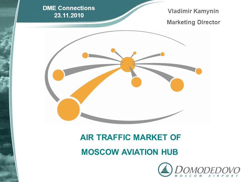 AIR TRAFFIC MARKET OF MOSCOW AVIATION HUB DME Connections 23.11.2010 Vladimir Kamynin Marketing Director