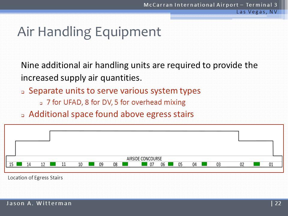 Air Handling Equipment McCarran International Airport – Terminal 3 Las Vegas, NV Nine additional air handling units are required to provide the increa
