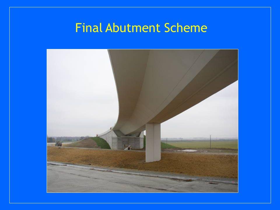 Final Abutment Scheme