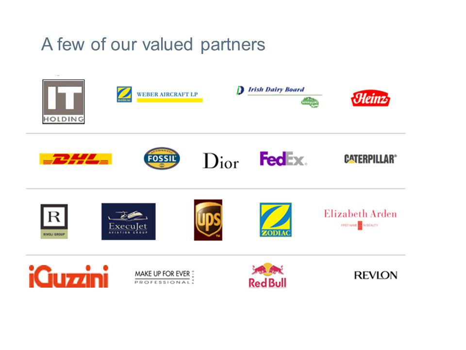 A few of our valued partners