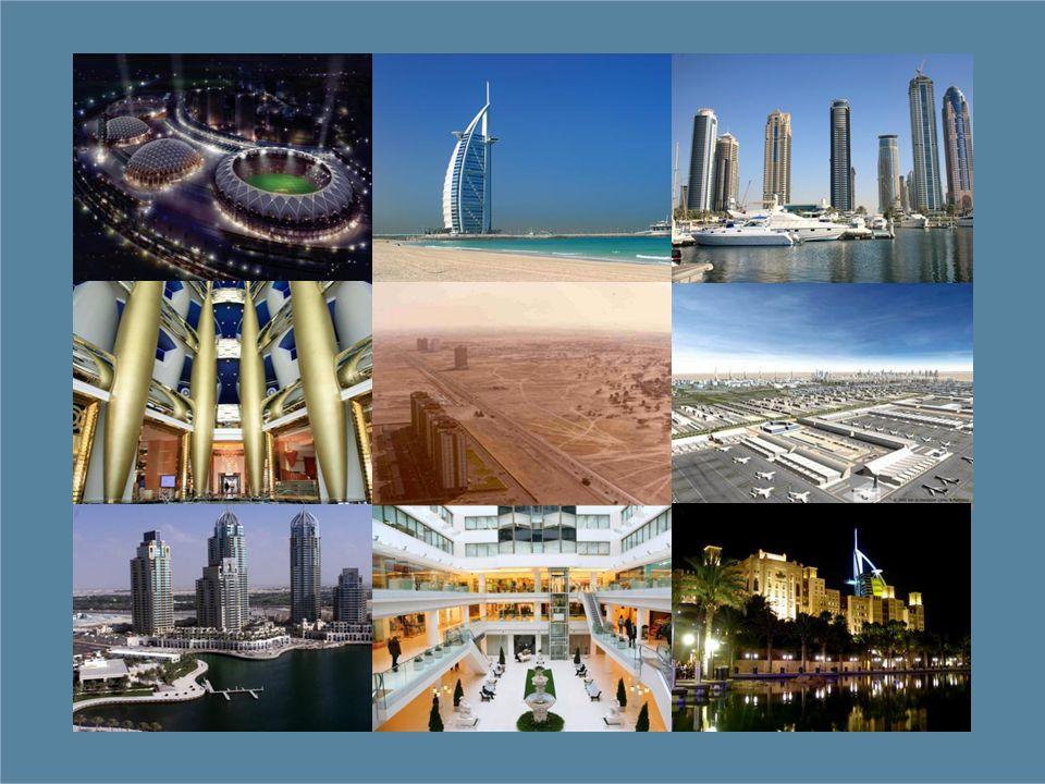 A strategic location Dubai International Airport: 120 airlines to over 210 destinations, 34.34 million passengers in 2007, 40 million passengers in 2008, 100,000 passengers a day