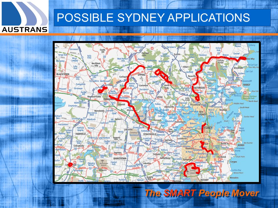 POSSIBLE SYDNEY APPLICATIONS The SMART People Mover