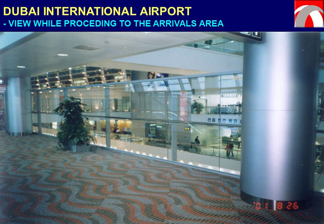 DUBAI INTERNATIONAL AIRPORT - VIEW WHILE PROCEDING TO THE ARRIVALS AREA