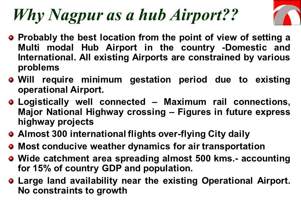 Why Nagpur as a hub Airport?.