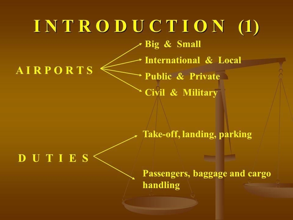 LIABILITY IN CIVIL AVIATION 1.AIR TRAFFIC PARTICIPANT LIABILITY 2.